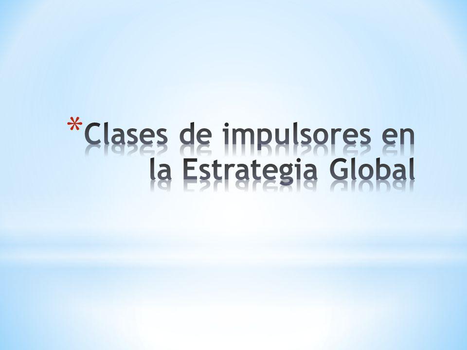 Clases de impulsores en la Estrategia Global
