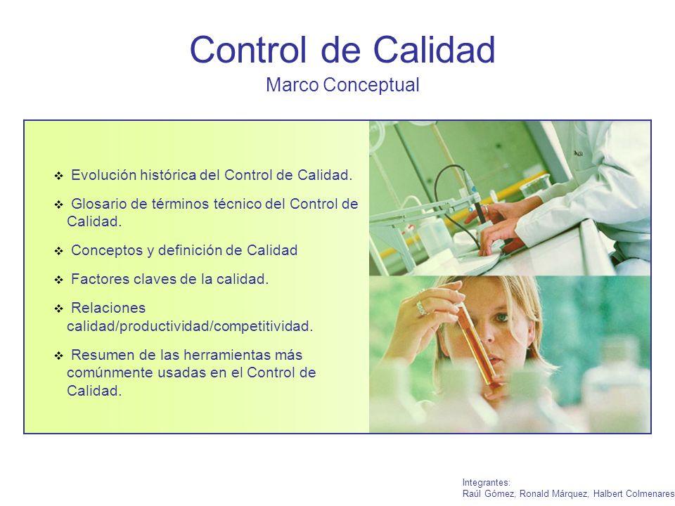 Control de Calidad Marco Conceptual