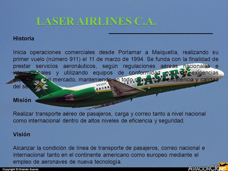 LASER AIRLINES C.A. Historia