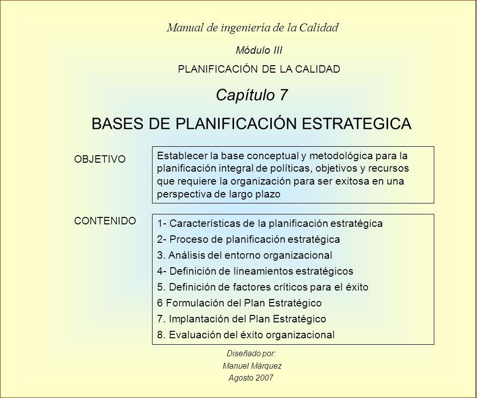 BASES DE PLANIFICACIÓN ESTRATEGICA