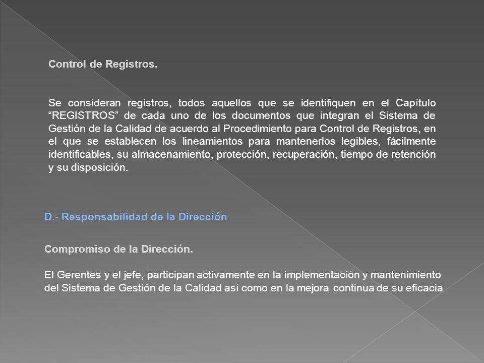 Control de Registros.