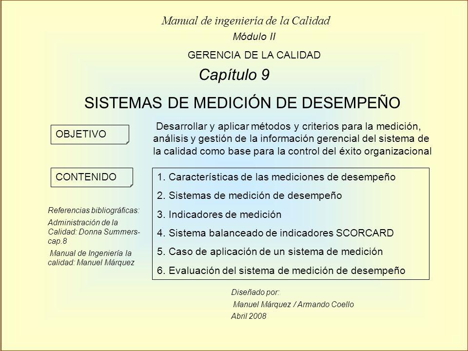 SISTEMAS DE MEDICIÓN DE DESEMPEÑO