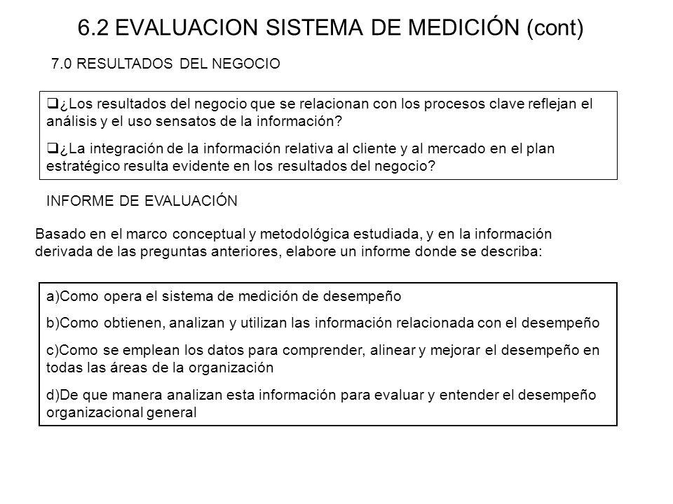 6.2 EVALUACION SISTEMA DE MEDICIÓN (cont)