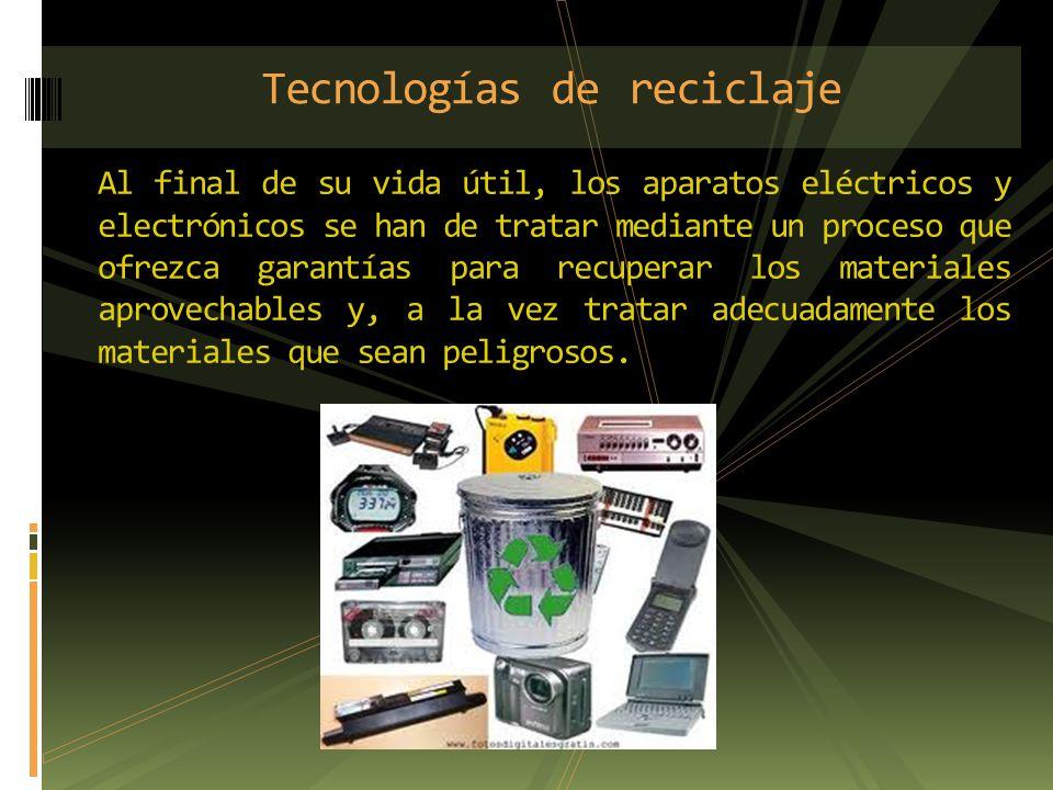 Tecnologías de reciclaje