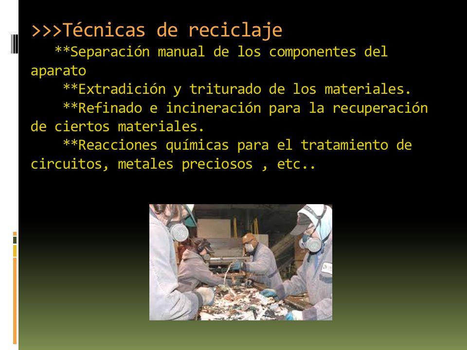 >>>Técnicas de reciclaje