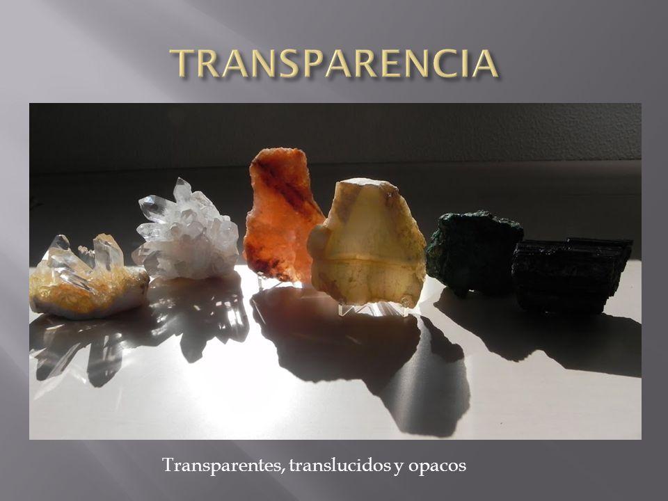 TRANSPARENCIA Transparentes, translucidos y opacos