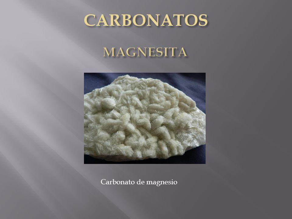 CARBONATOS MAGNESITA Carbonato de magnesio