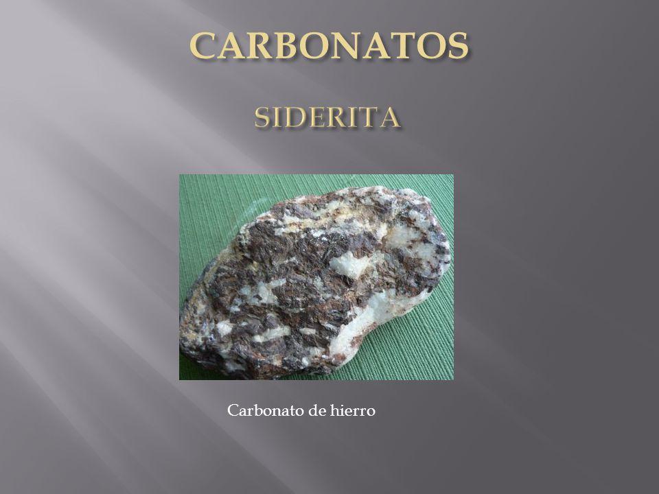 CARBONATOS SIDERITA Carbonato de hierro