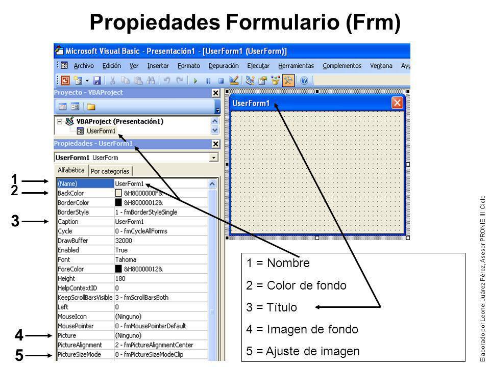 Propiedades Formulario (Frm)