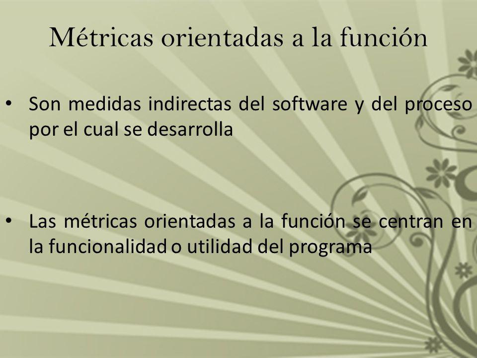 Métricas orientadas a la función