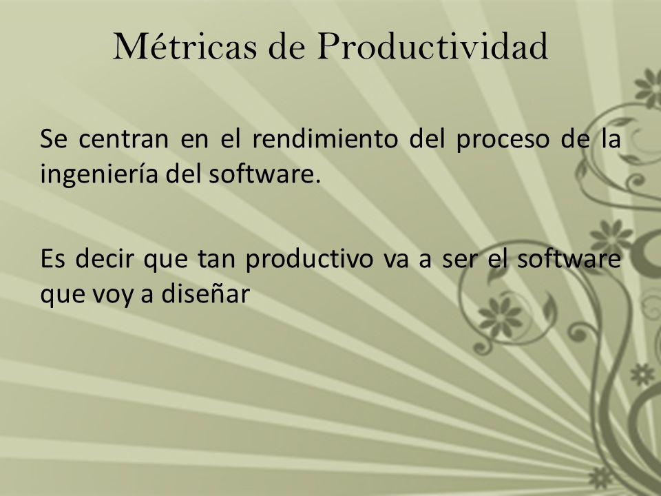 Métricas de Productividad