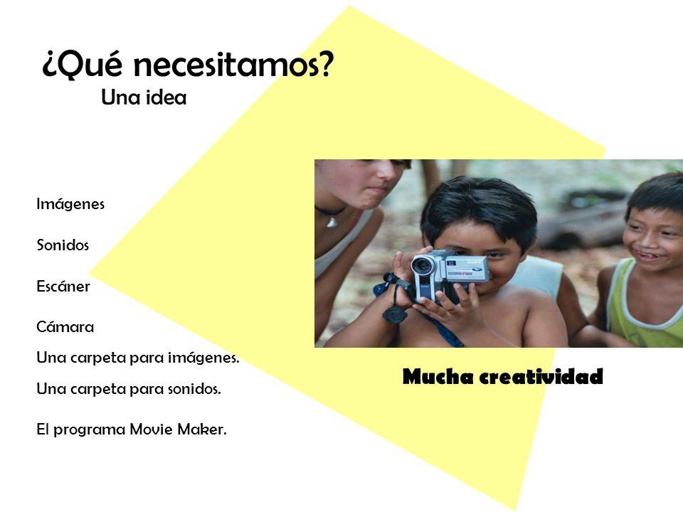¿Qué necesitamos Una idea Mucha creatividad Imágenes Sonidos Escáner