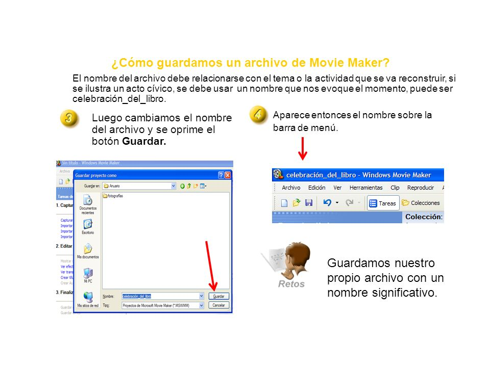 ¿Cómo guardamos un archivo de Movie Maker