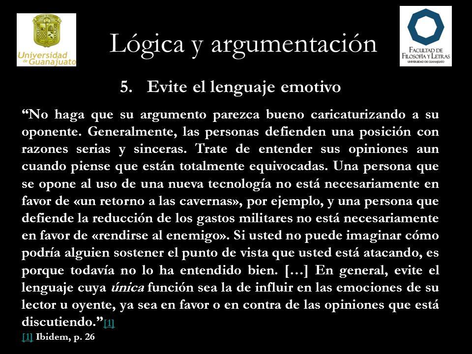 5. Evite el lenguaje emotivo