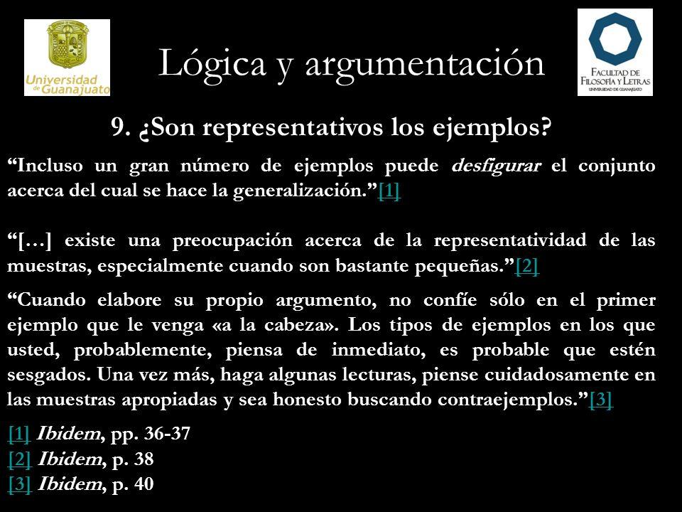 9. ¿Son representativos los ejemplos