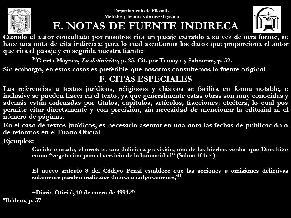 E. NOTAS DE FUENTE INDIRECA