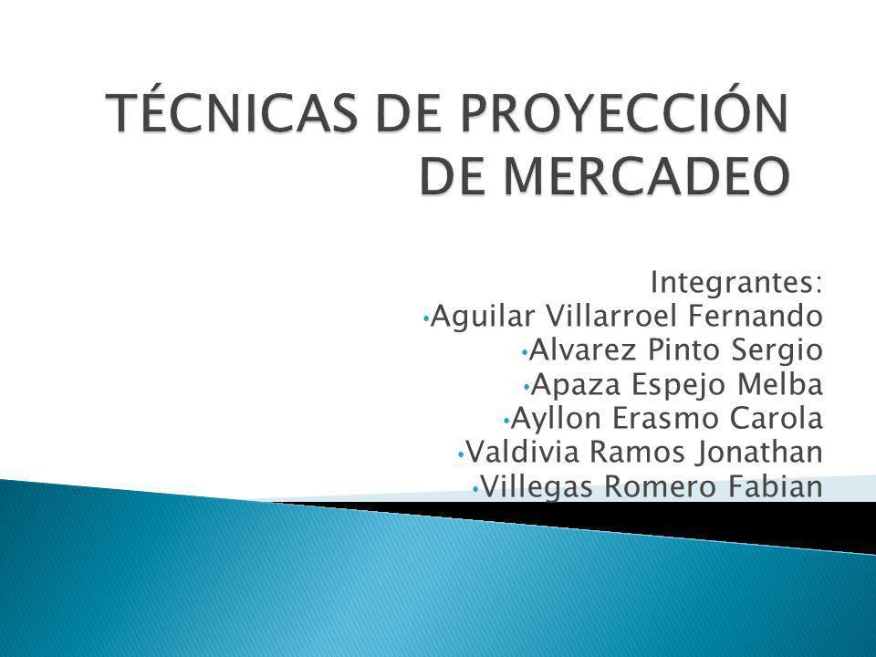 TÉCNICAS DE PROYECCIÓN DE MERCADEO