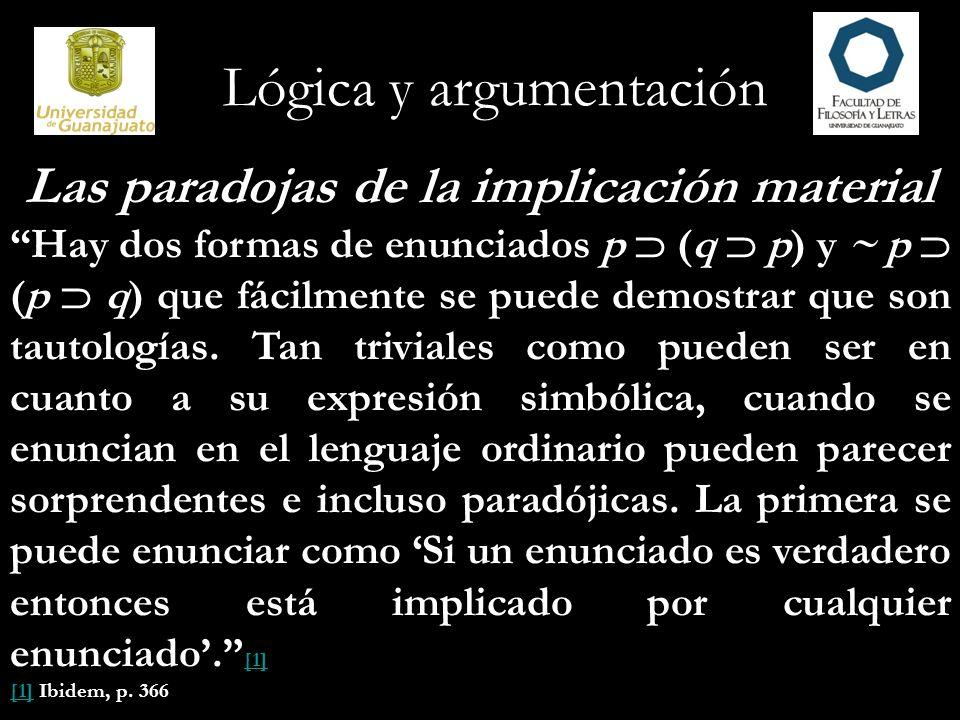 Las paradojas de la implicación material