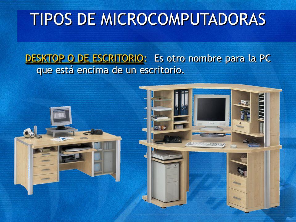 TIPOS DE MICROCOMPUTADORAS