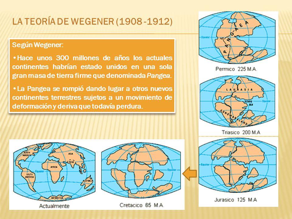 LA TEORÍA DE WEGENER (1908 -1912)
