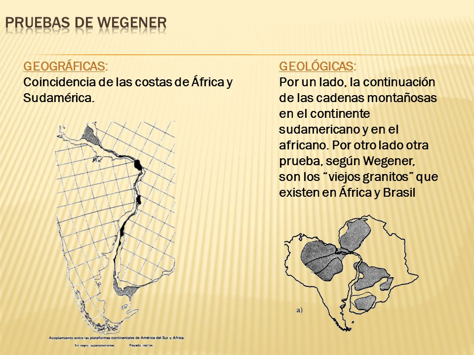 PRUEBAS DE WEGENER GEOGRÁFICAS: