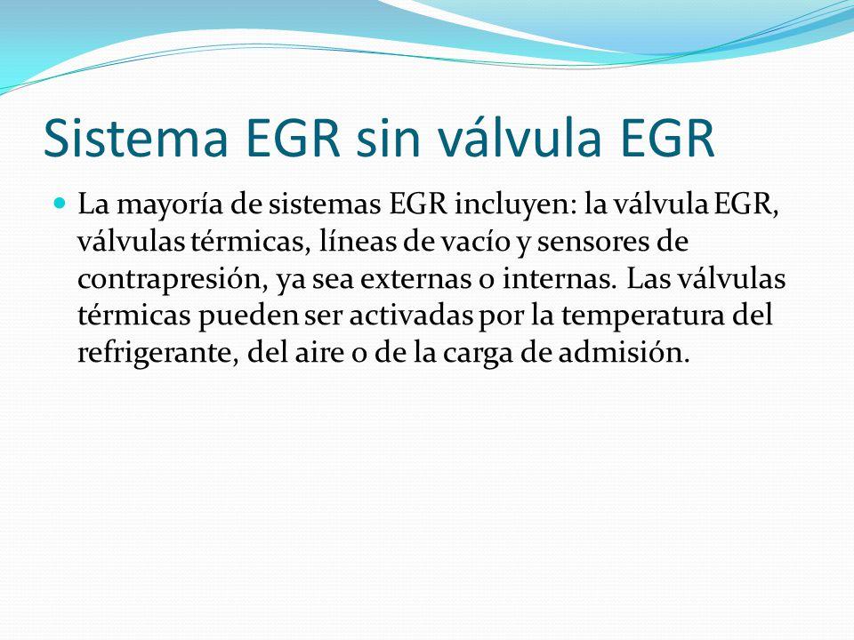 Sistema EGR sin válvula EGR