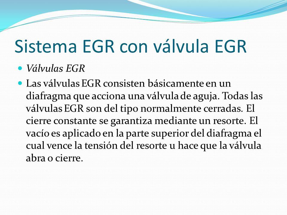 Sistema EGR con válvula EGR