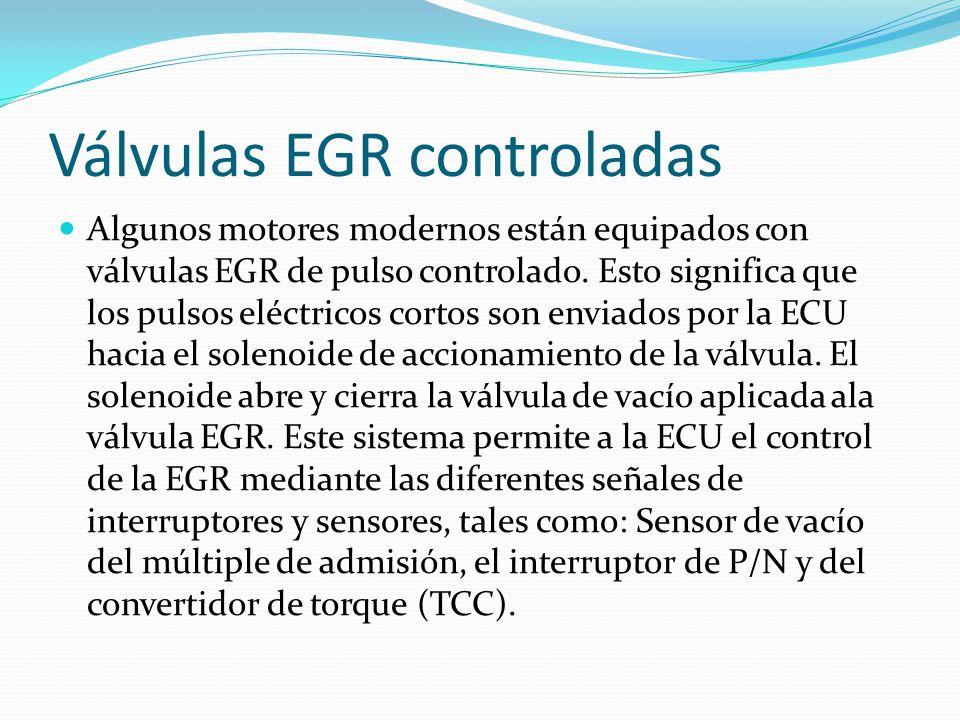 Válvulas EGR controladas