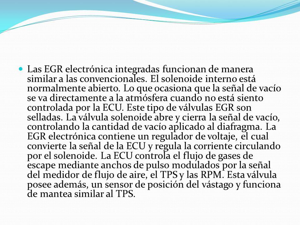 Las EGR electrónica integradas funcionan de manera similar a las convencionales.