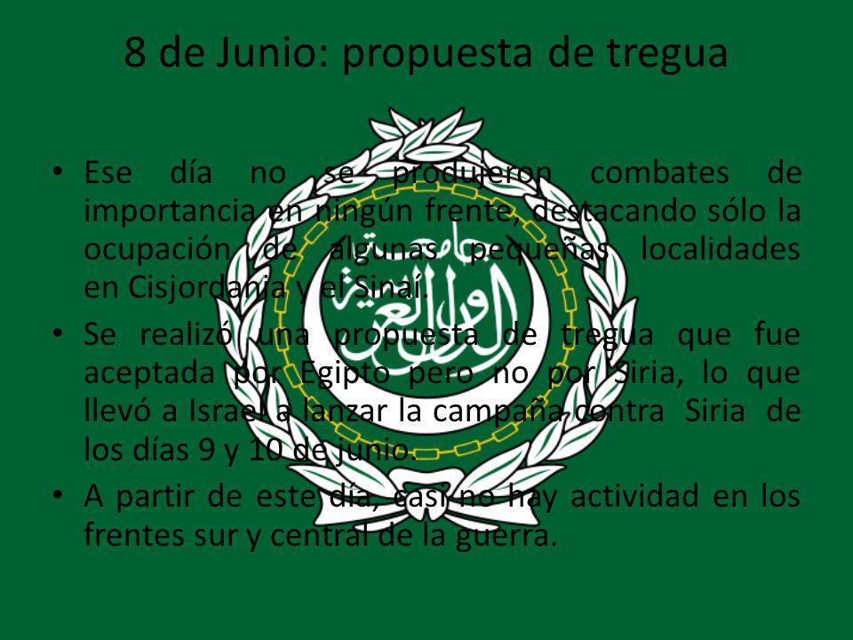 8 de Junio: propuesta de tregua