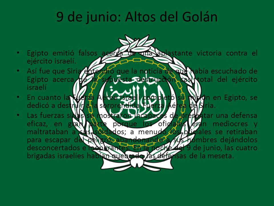 9 de junio: Altos del Golán