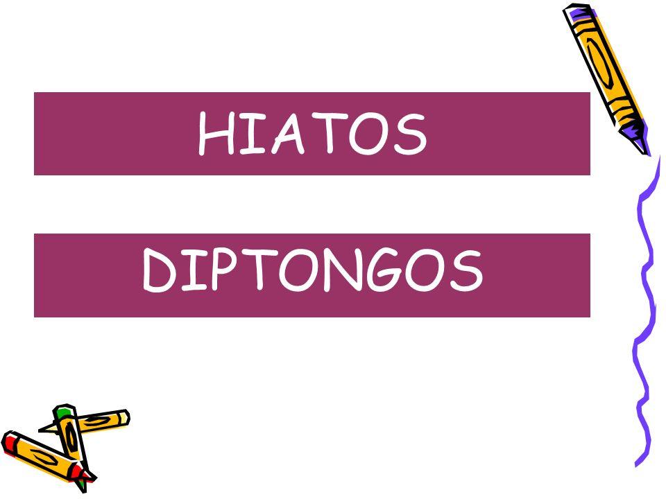 HIATOS DIPTONGOS