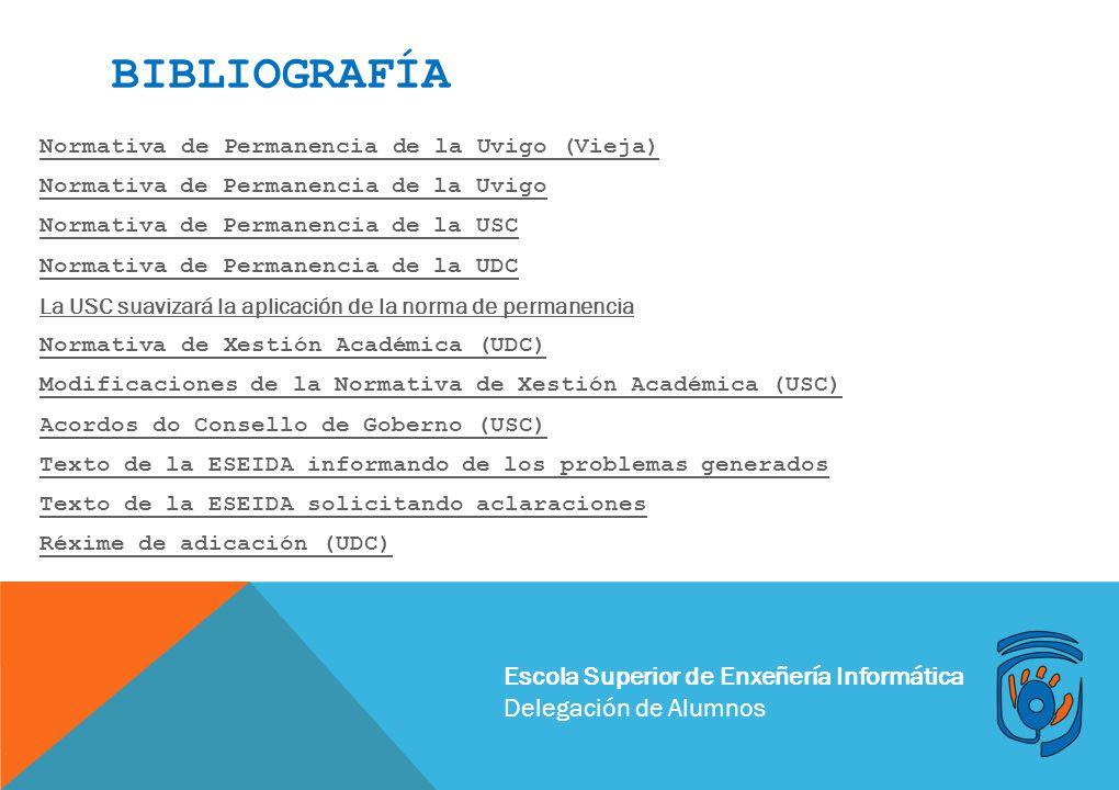 bibliografía Escola Superior de Enxeñería Informática