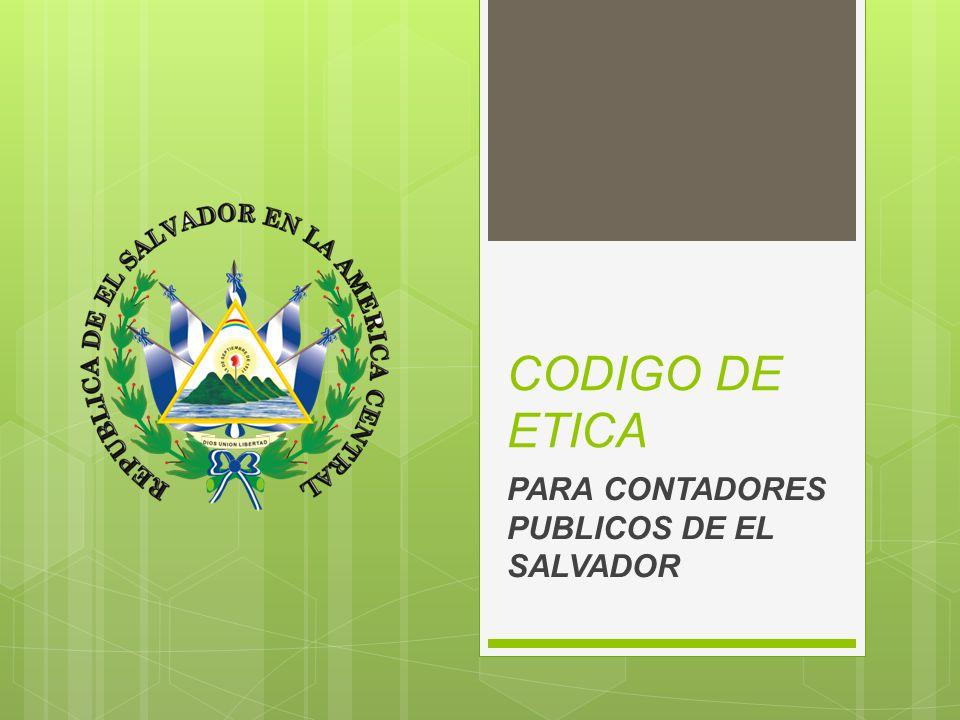 PARA CONTADORES PUBLICOS DE EL SALVADOR