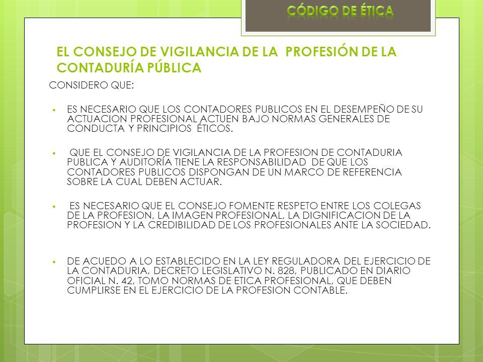 EL CONSEJO DE VIGILANCIA DE LA PROFESIÓN DE LA CONTADURÍA PÚBLICA