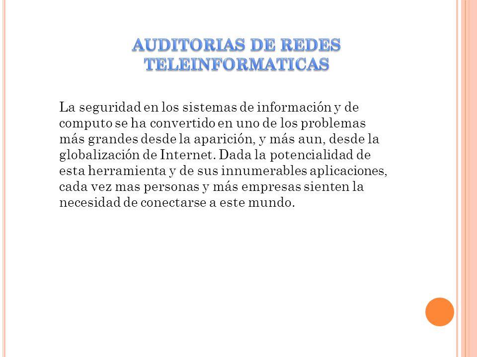 AUDITORIAS DE REDES TELEINFORMATICAS