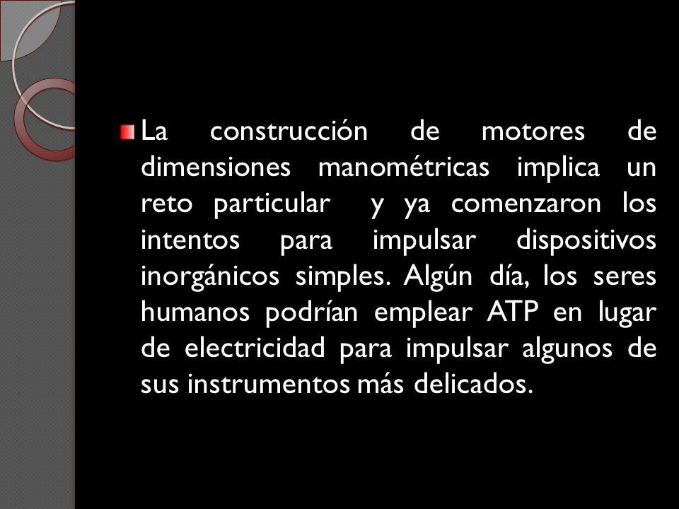 La construcción de motores de dimensiones manométricas implica un reto particular y ya comenzaron los intentos para impulsar dispositivos inorgánicos simples.