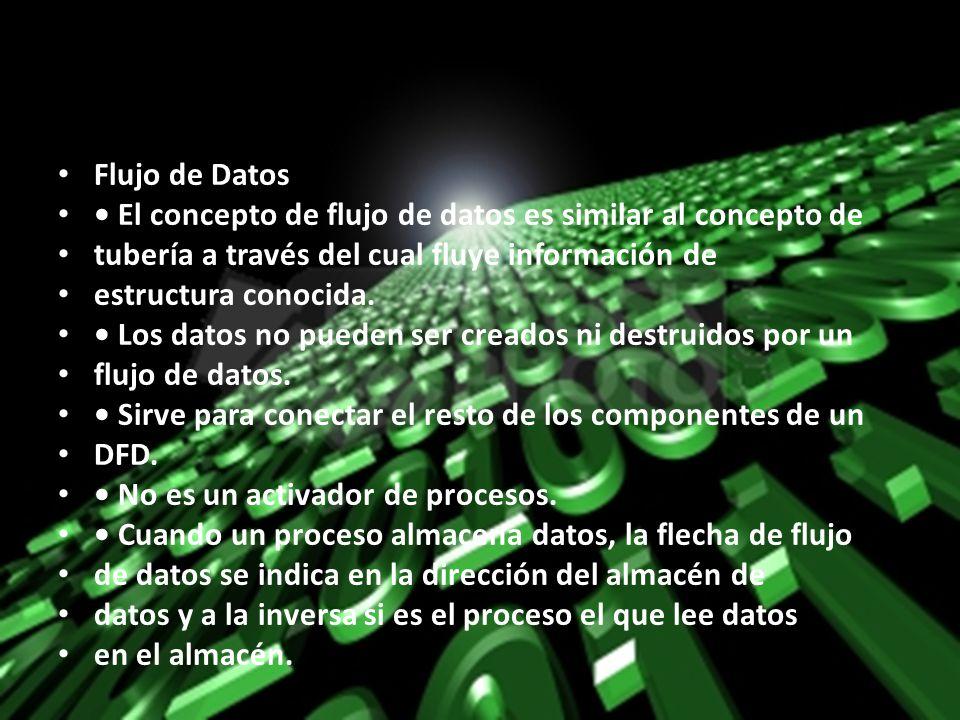 Flujo de Datos • El concepto de flujo de datos es similar al concepto de. tubería a través del cual fluye información de.