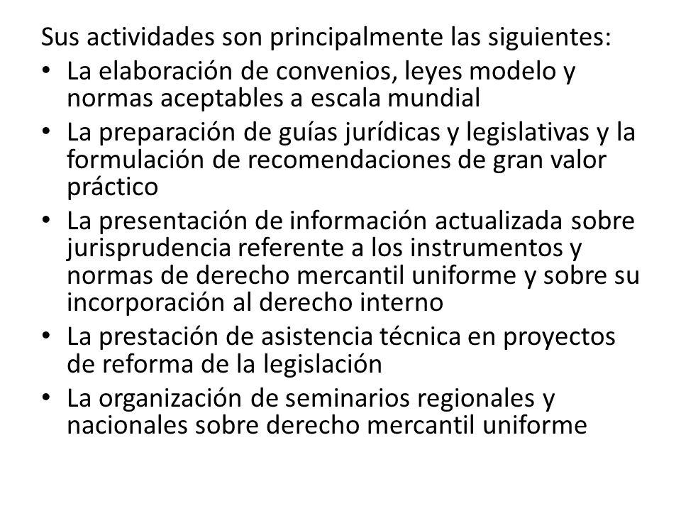 Sus actividades son principalmente las siguientes: