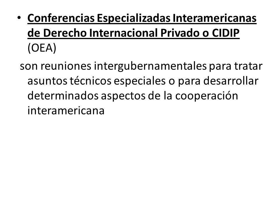Conferencias Especializadas Interamericanas de Derecho Internacional Privado o CIDIP (OEA)