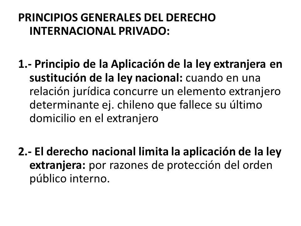 PRINCIPIOS GENERALES DEL DERECHO INTERNACIONAL PRIVADO: 1