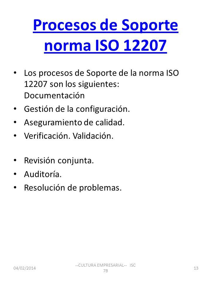 Procesos de Soporte norma ISO 12207