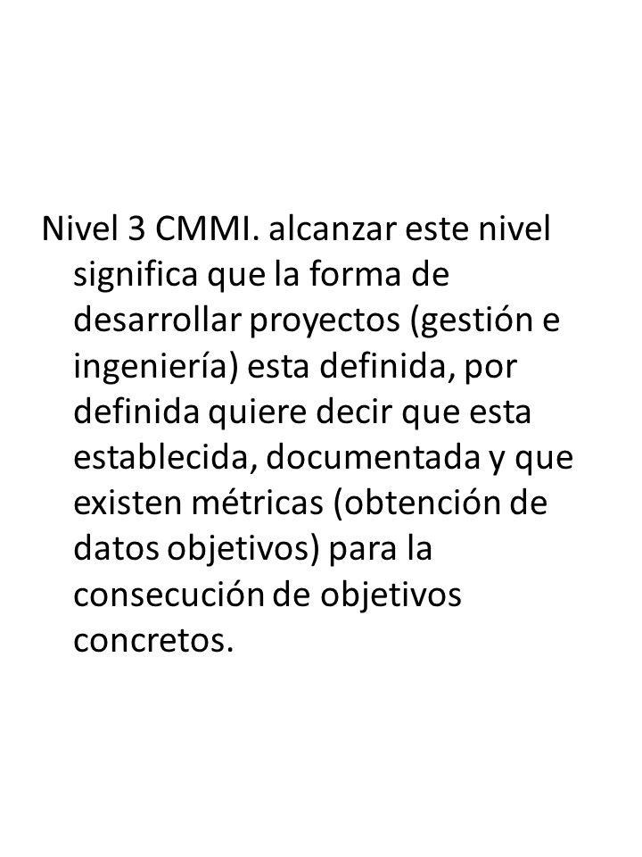 Nivel 3 CMMI.
