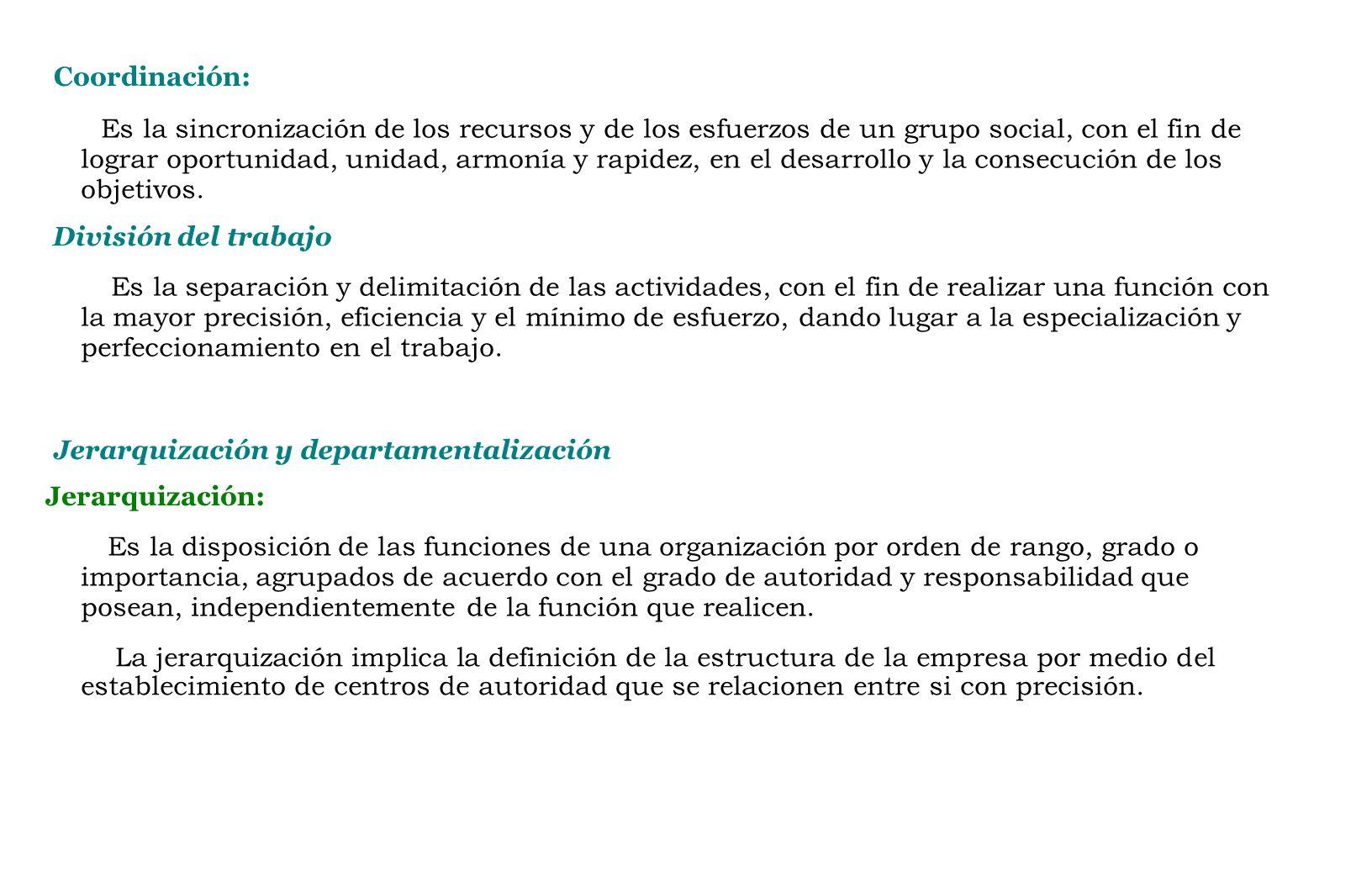 Coordinación: