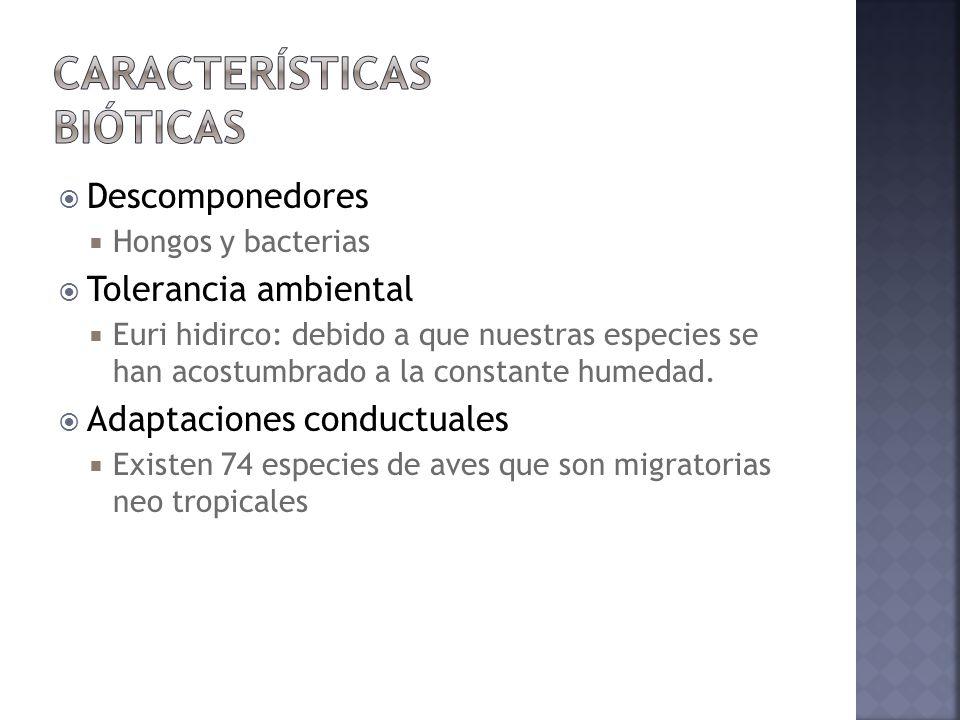 Características bióticas