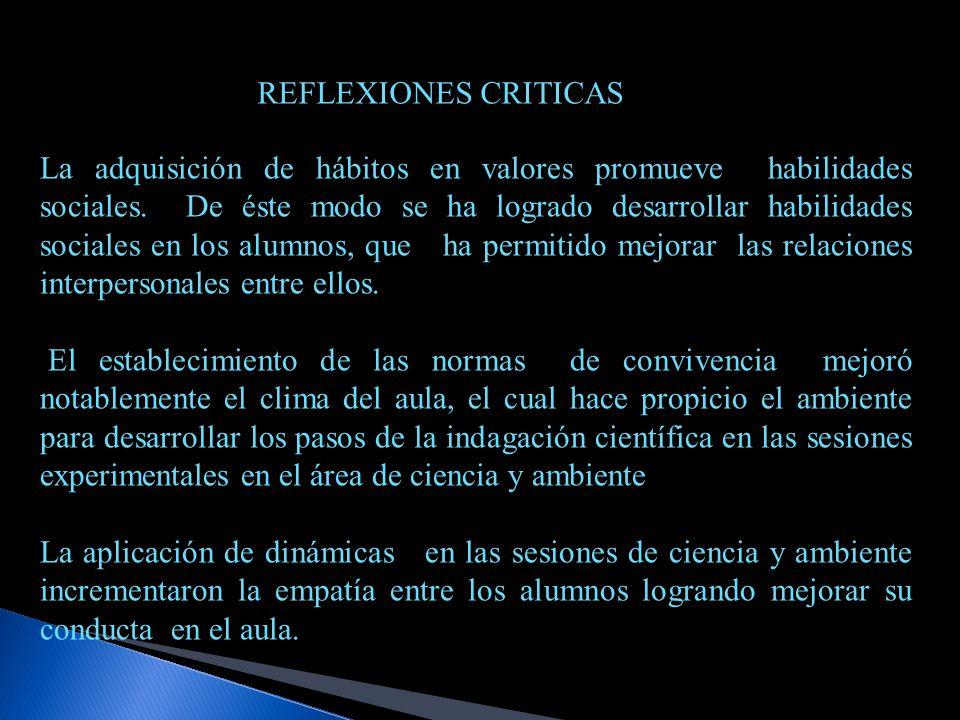 REFLEXIONES CRITICAS