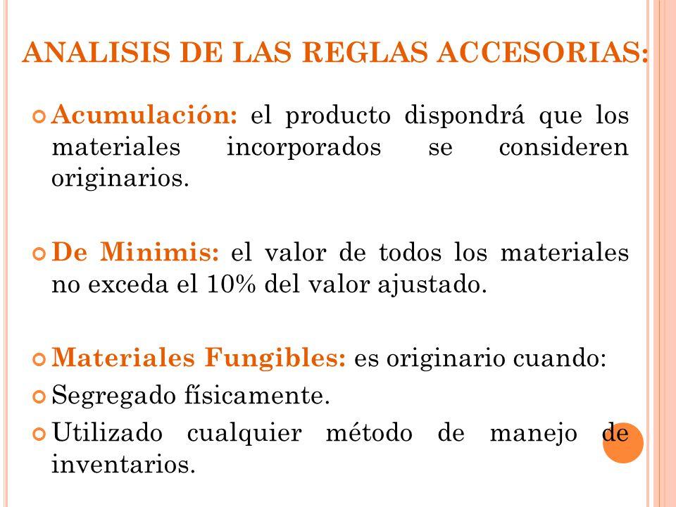 ANALISIS DE LAS REGLAS ACCESORIAS: