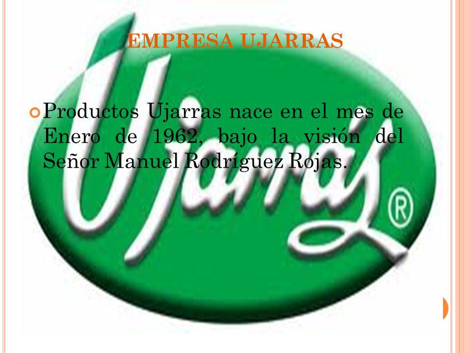 EMPRESA UJARRAS Productos Ujarras nace en el mes de Enero de 1962, bajo la visión del Señor Manuel Rodríguez Rojas.