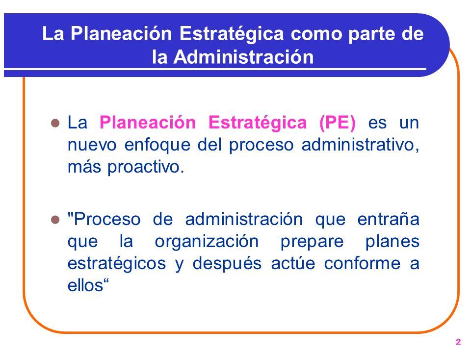 La Planeación Estratégica como parte de la Administración