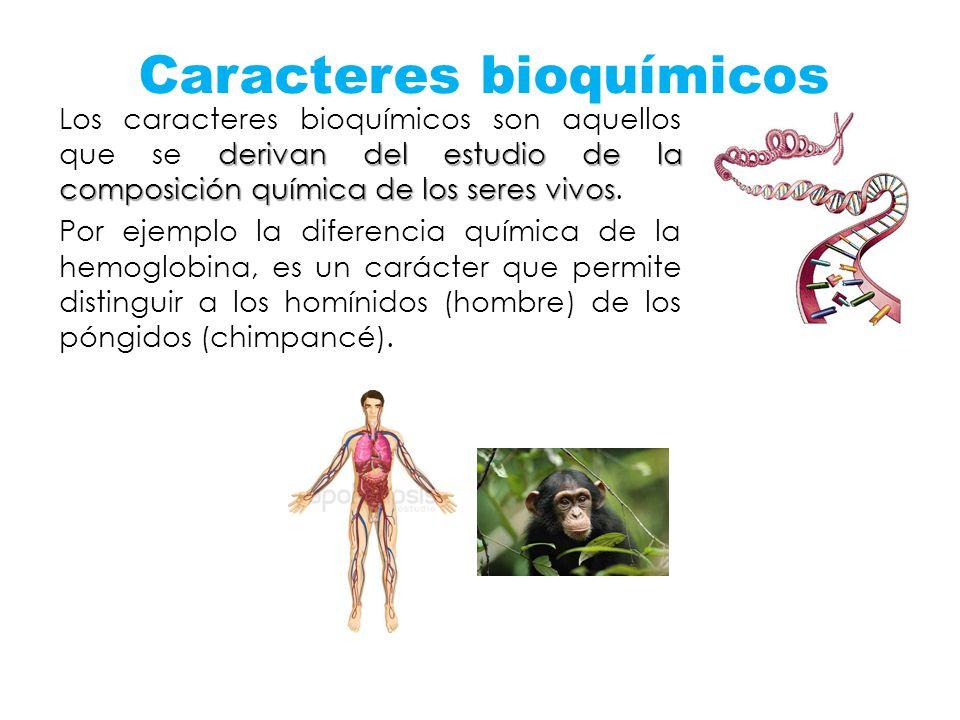 Caracteres bioquímicos